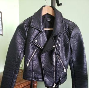 Bebe Faux Leather Biker Jacket